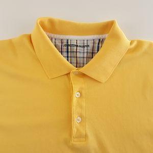 Johnston & Murphy Mens L Yellow Polo Shirt